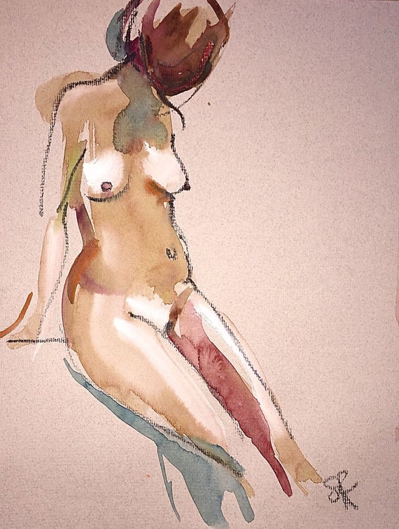 Nude painting- #1416 by Gretchen Kelly