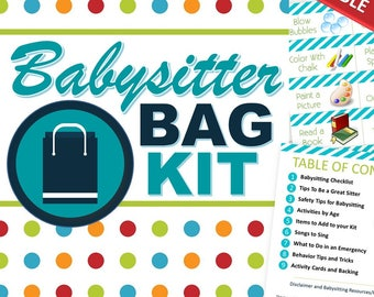 EDITABLE Babysitting Kit (All-In-One) - INSTANT DOWNLOAD