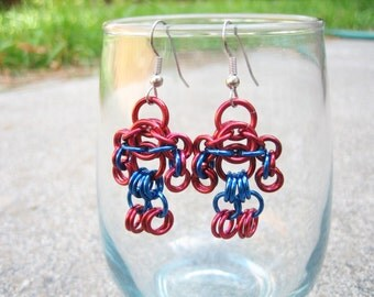 Spider-Man Themed Chainmaille Maille Man Earrings