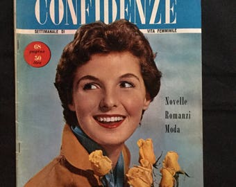 1950s Vintage Italian CONFIDENZE Magazines -- great for Retro Scrapbooking, Collage, Altered Art, Mixed Media, Jewelry, Decoupage