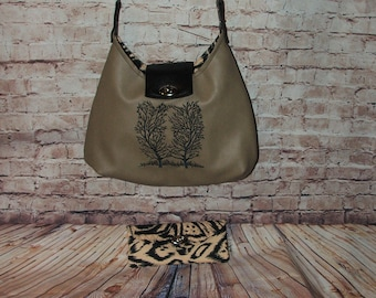"And ""The Lady is a Cougar"" One of a kind handcrafted purse/handbag."