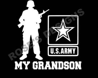 CUSTOM Order, Solier My Grandson Decal, RosesDesigns