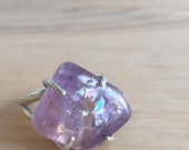 Tumbled Amethyst Nugget Silver Ring