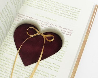 Heart Ring Book The Neverending Story Hollow Book Handmade Ring Holder Proposal Engagement Wedding Ring Holder Ring Pillow - READY TO SHIP