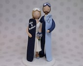 Bride & Groom Custom Made Snowboard/ Ski Theme Wedding Cake Topper - reserved for Charmd1nce