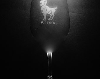 Aries 13 Ounce Wine Glass