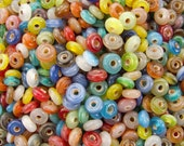 9x3mm Color Mixed Seamless Glass Rondel Beads (AS3)