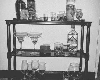 vintage counter top bar shelf