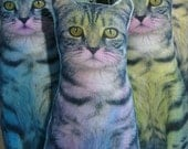 Tabby Cat Doll Pillow