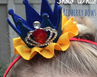 "SNOW WHITE CROWN with Rhinestone Crown Embellishment-approximately 2""x2"""