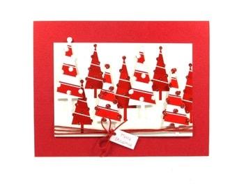 Merry Christmas cards, Christmas trees, holiday cards, elegant Christmas card