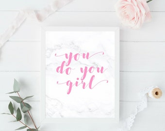 Gallery Wall Prints, Girl Boss Print, Pink Art, Wall Art, Dorm wall art, dorm decor, quote prints, Inspirational Wall Art, gift for her