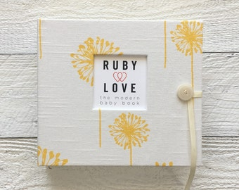 Yellow Dandelion | BABY BOOK