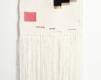 woven wall hanging // hand woven wall hanging art tapestry