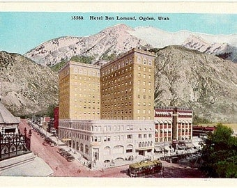 Vintage Utah Postcard - The Ben Lomond Hotel, Ogden (Unused)