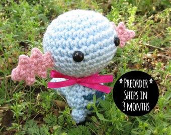PREORDER - Crochet - Chibi Pokemon Amigurumi - Wooper. Axolotl Pokemon Plush. Anime Manga Gift. Johto. Nintendo Fan Art. Corlista. Korlista.