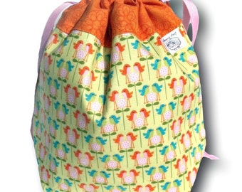 Chirp - One Skein Project Bag for Knitting or Needlework