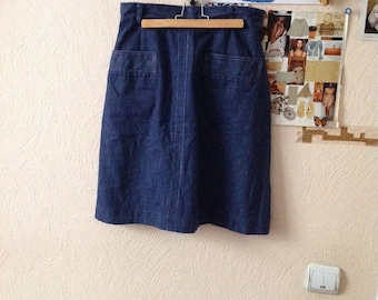Vintage Denim Skirt New Denim A Line M Medium