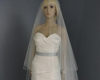 Wedding Veil Gorgeous Cathedral Drop Bridal Veil Pencil Edge, Bridal Veil DV36/120PE