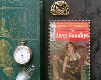 Framed Book Cover Art Raymond Chandler The Long Goodbye Book Decor
