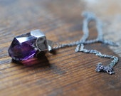 Dollybird Natural Amethyst Crystal Necklace