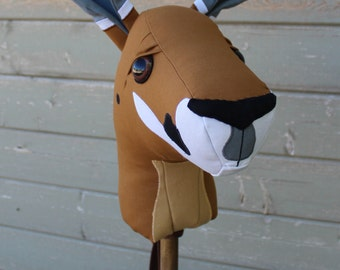 """Kangaroo Ride-On Toy Stick Horse Hobby Horse """"Skippy"""" Made to Order in two size options"""