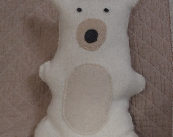 Polar Bear Softie Upcycled Recycled Cashmere  and Wool Sweaters Hand Made