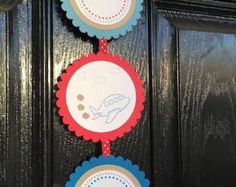 Airplane door sign Plane door sign airplane birthday airplane baby shower airplane & Airplane door sign   Etsy Pezcame.Com