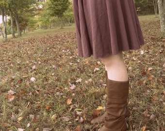 Forest Organic Cotton Circle Skirt- Made in the USA - Organic Cotton Clothing