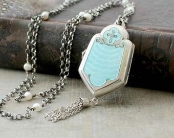 Prayer Box Necklace Etsy