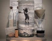 Reserved Order for Crystal, Personalized Sand Ceremony Bottle, Hand Painted Bottle With Your Photo, Unity Ceremony Decor, Centerpiece, Gift