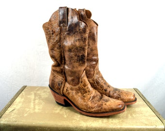 Vintage Justin Western Brown Cowboy Boots