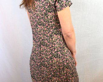 Vintage 80s 1980s Summer Floral All That Jazz Maxi Dress