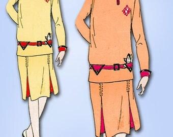 1920s VTG Butterick Sewing Pattern 7044 Uncut Little Girls Flapper Dress Size 10