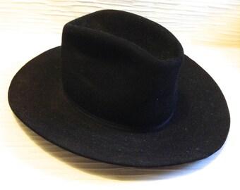 Vintage WESTERN hat. Resistol Cowboy or Cowgirl hat. Size 7. XXX Beaver.  Jedlicka's Santa Barbara.  Rockabilly
