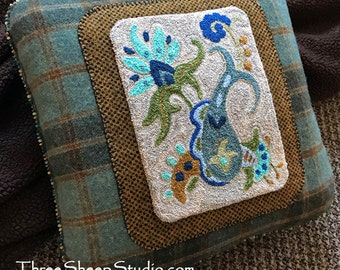 Punch Needle Pattern - Seaside Fancy - #PN517 - Needlepunch Embroidery
