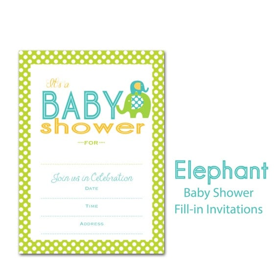 baby shower fill in instant download shower invitations baby