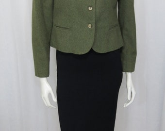 Rare Squire Shop 1970's women's loden green 100% wool jacket size M