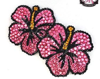 Hibiscus Flower Rhinestone Nipple Pasties - SugarKitty Couture