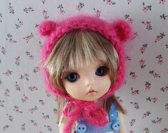 Fuchsia hot pink Pukifee made in mohair, Nappy Choo