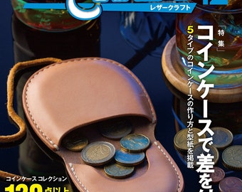 Leather Craft Vol.12, Studio Tac Creative, Japanese Leather Craft Magazine Book for Leather Coin Case,  Easy Tutorial & Selection, B1797
