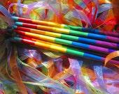 Rainbow Fairy Ribbon Wand