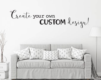 custom decal design create your own custom design design your own wall decal - Wall Stickers Design Your Own