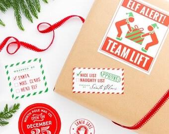 Santa's Workshop Gift Stickers - Set of 14