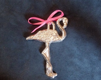 Pewter Flamingo Ornament