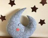moon pillow, moon decor, moon plush,baby nursery, twinkle twinkle little star,  stuffed moon,
