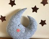 moon pillow, moon decor, moon plush,baby nursery, twinkle twinkle little star,  stuffed moon,