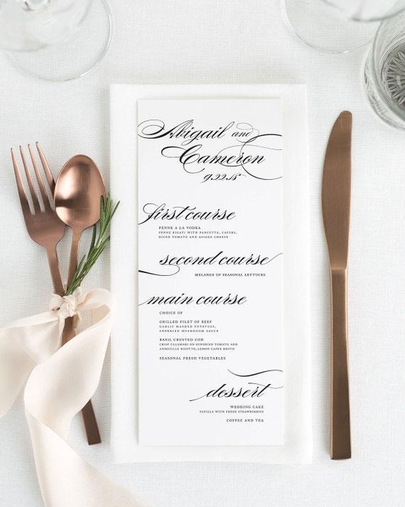 Marriage Dinner Menus - Deposit