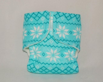 Baby Doll Diaper - Snowflake - Size Large