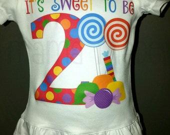 Girls Birthday Shirt, Candy Birthday Shirt, It's Sweet to Be Shirt, Candy Shop Birthday Shirt, Candy Shoppe Birthday Shirt, Sweet Shoppe